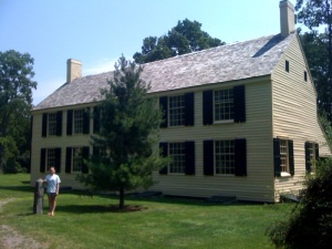 Emily in front of the Schulyer House