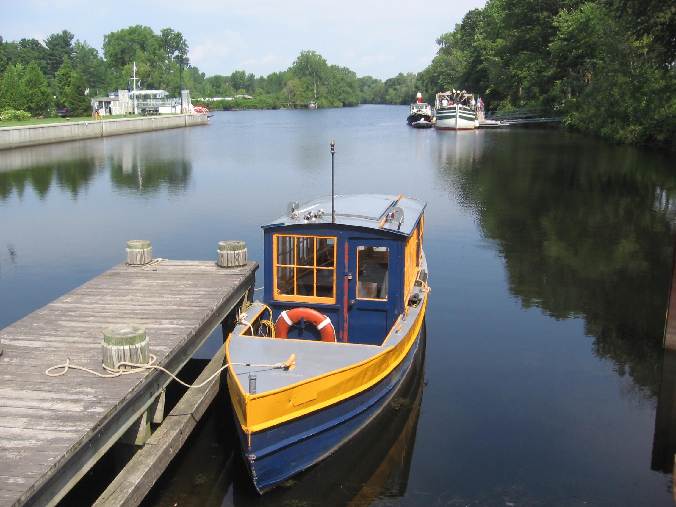 A view of a kerosene lighter boat in Schuylerville