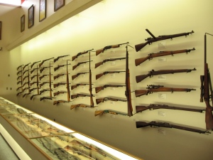 Wall of guns at Remington