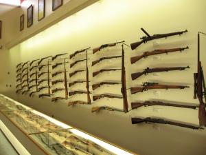 Wall of guns at Remington