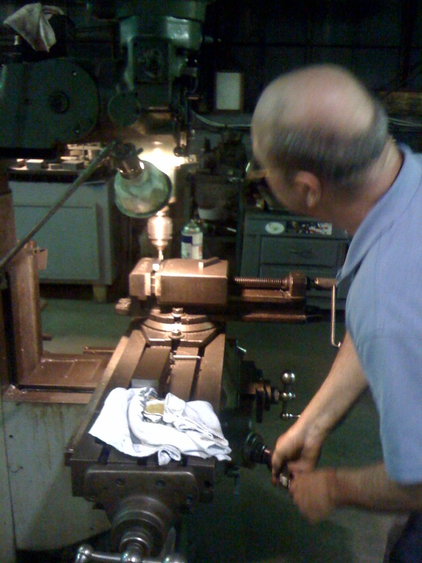 Machining a new key for the driveshaft in Waterford