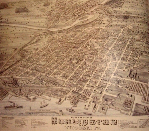 A map of Burlington in the 1800s
