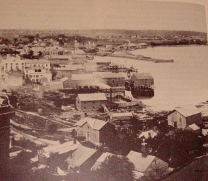 Geneva waterfront in the mid 1800s