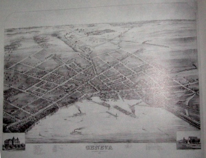 A map of Geneva in the 1800s