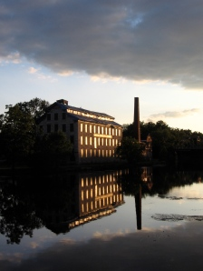 Seneca Knitting Mill at dusk