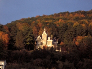 Skene Manor in Whitehall, among the fall foliage