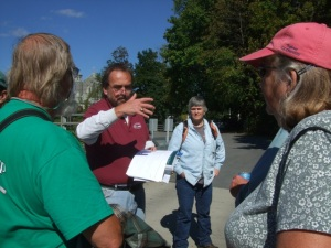 Russ explaining a portion of the Champlain Canal