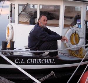 Art Cohn reflecting upon the Churchill