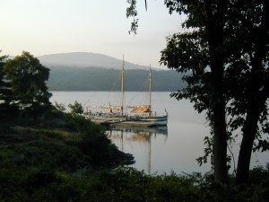 Docked at Constitution Island in 2005