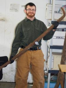 Paul Gates showing the anchor stock to be conserved