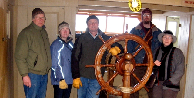 LCMM Staff aboard the Morgan
