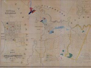 An 1836 map of Burlington