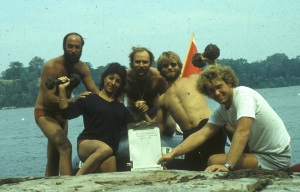 1983 dive Crew for the Great Bridge Project