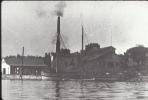 A look at the docks of Essex NY, in the late 1800s