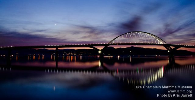 The Champlain Bridge at Night