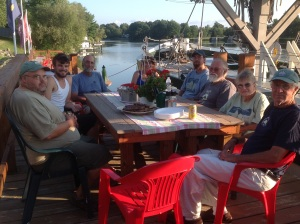 Dinner on the dock in Phoenix (photo: Kathleen Carney)