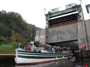 Leaving Lock 17, in 2010