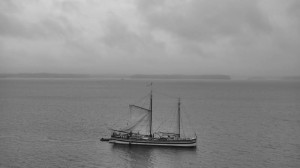 Dousing sail outside of Essex (photo: Catherine Seidenberg)