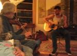Doug and Ian gave an impromptu concert (photo: Tom Larsen)