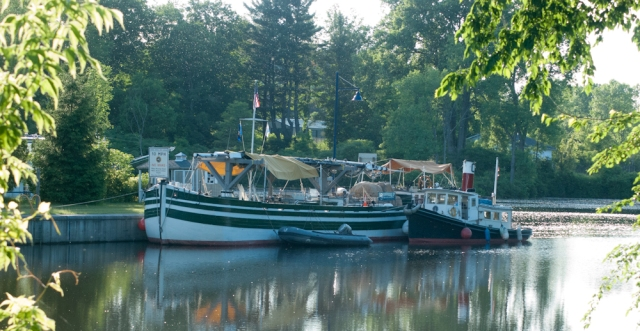 Docked above C5 in Schuylerville (photo: Tom Larsen)