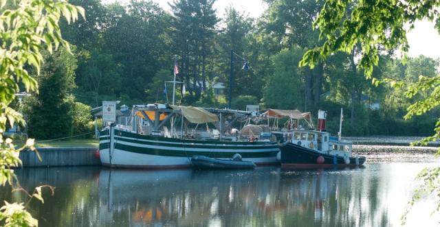 Docked above C5 in Schuylerville (photo: Tom Larsen)