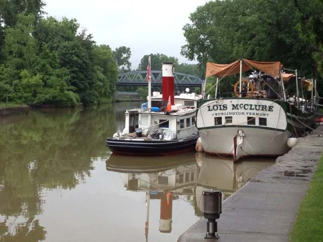 Docked above E2, awaiting the rain (photo: Art Cohn)