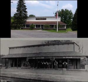 Then and now of the Travis storefront (click to enlarge)