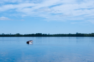 A calm Oneida Lake (photo: Tom Larsen)