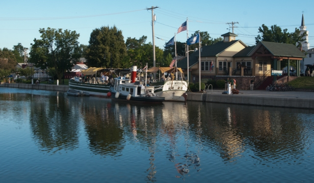 Docked in Brockport (photo: Tom Larsen)