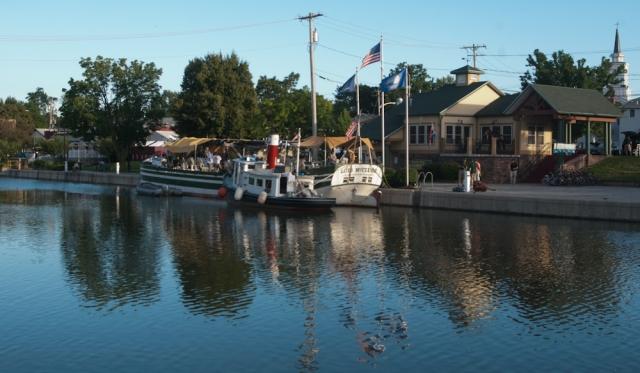 Docked in Brockport (photo: Tom Larsen)
