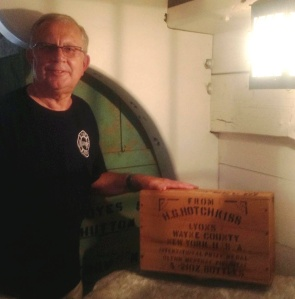 Jack McCramels with the peppermint oil box he donated (photo: Kathleen Carney)