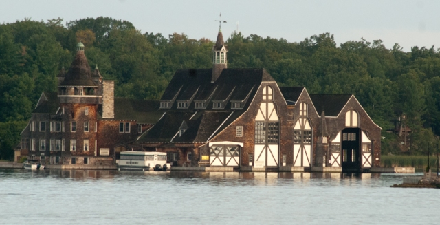 The Boldt Yacht house, viewed from the water (photo: Tom Larsen)