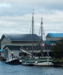 Docked in Morristown (photo: Tom Larsen)
